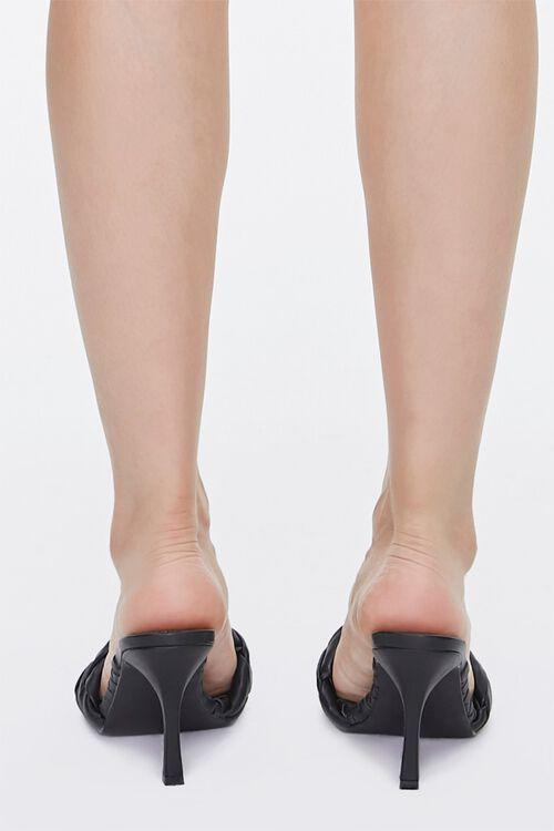 BLACK Braided Square Toe Heels, image 3