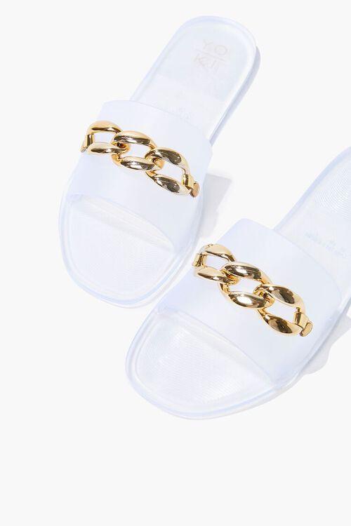 Chain-Strap Slip-On Sandals, image 1