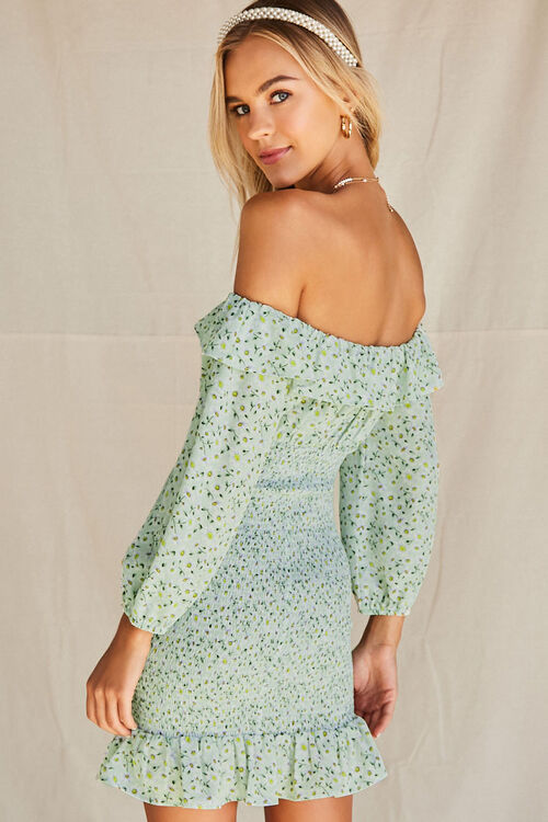 Daisy Smocked Off-the-Shoulder Dress, image 3