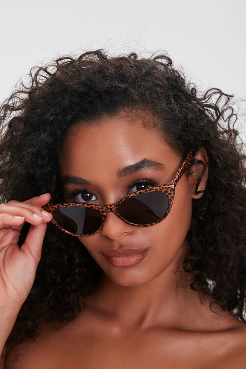 Cheetah Cat-Eye Sunglasses, image 1