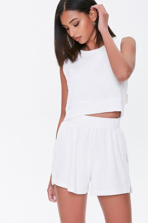 Kendall & Kylie Terrycloth Elastic Shorts, image 2