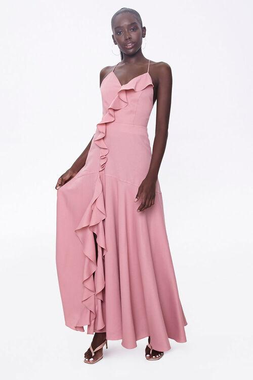Ruffle-Trim Maxi Dress, image 1