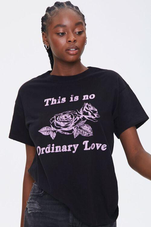 BLACK/PINK No Ordinary Love Graphic Tee, image 1