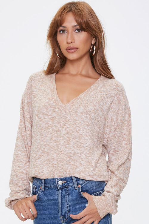 Marled Drop-Sleeve Sweater, image 1