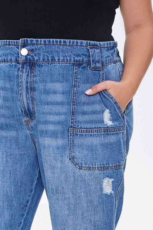 Plus Size Straight-Leg Cuffed Jeans, image 5