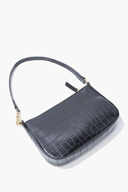 Faux Croc Leather Handbag, image 4