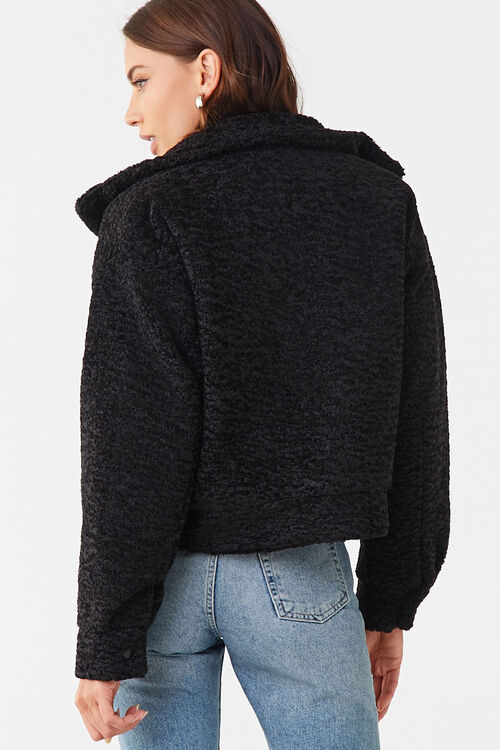 Faux Shearling Snap-Button Jacket, image 3