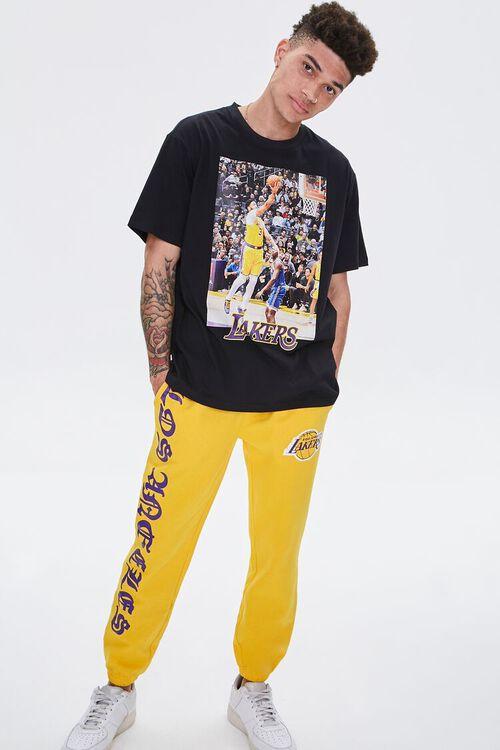 YELLOW/PURPLE Lakers Graphic Fleece Joggers, image 6