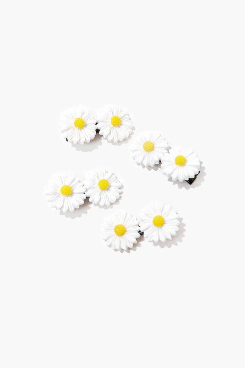 WHITE/YELLOW Daisy Hair Clip Set, image 1