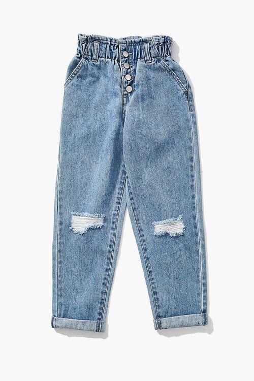 Girls Paperbag Jeans (Kids), image 3