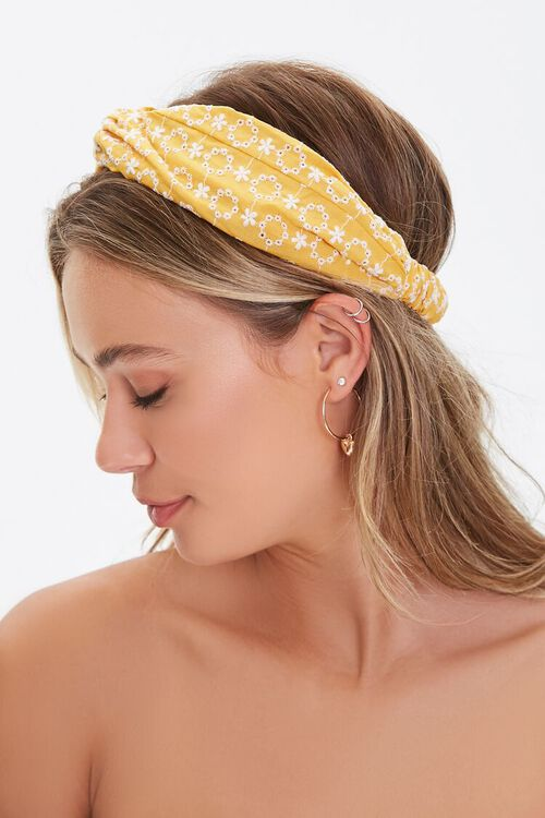 Embroidered Floral Headwrap, image 2