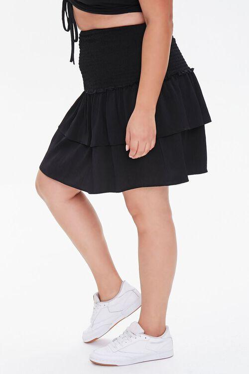 Plus Size Flounce Mini Skirt, image 3