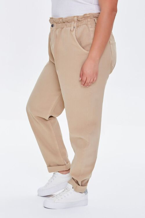 Plus Size High-Rise Paperbag Jeans, image 3