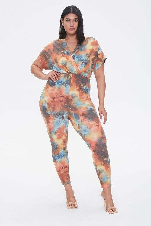 Plus Size Cloud Wash Jumpsuit, image 1