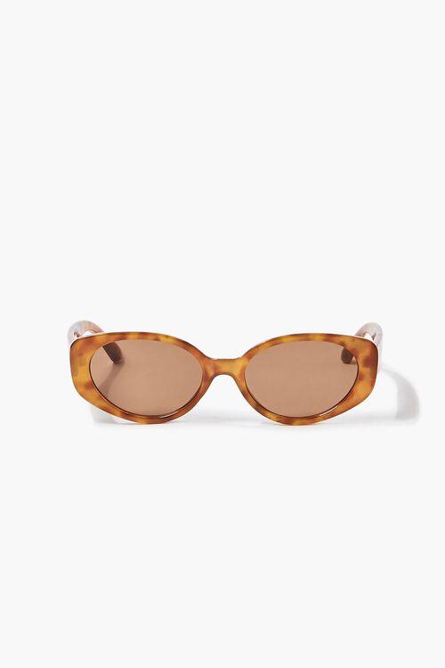 Tortoiseshell Oval Sunglasses, image 2