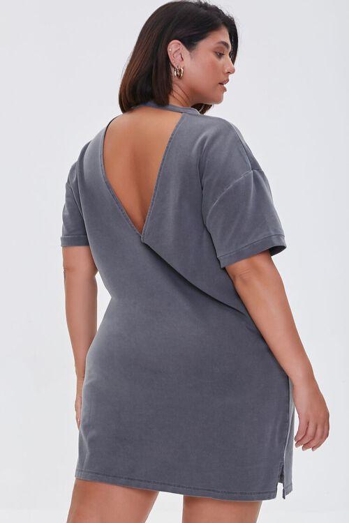 CHARCOAL Plus Size Mini T-Shirt Dress, image 3