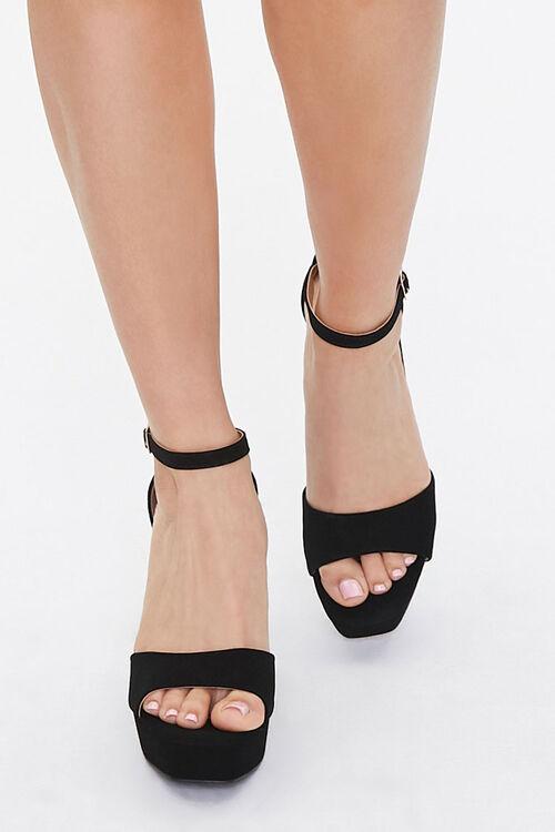 Faux Suede Platform Heels, image 4