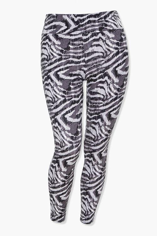 Plus Size Active Zebra Leggings, image 1