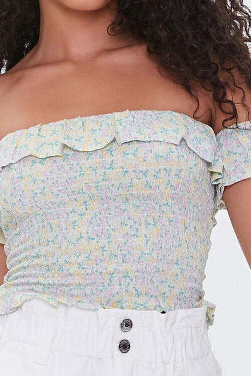 Floral Print Off-the-Shoulder Top, image 5