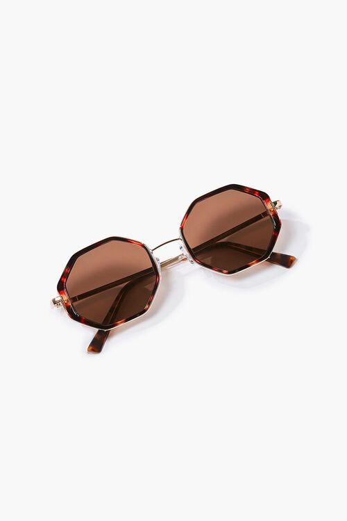 Tortoiseshell Geo Sunglasses, image 1