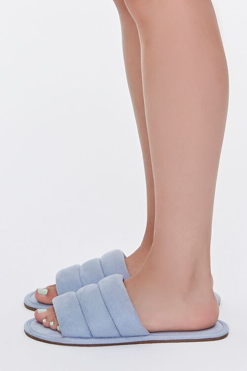 Faux Suede Quilted Slippers, image 2
