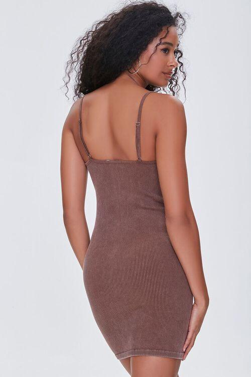 CHOCOLATE Seamless Ribbed Cami Mini Dress, image 3