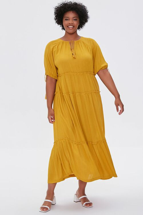 Plus Size Tiered Maxi Dress, image 1