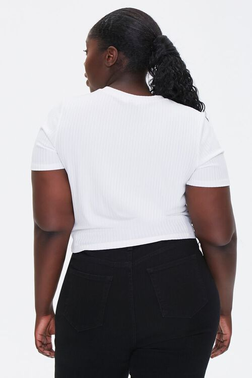 Plus Size Knotted Self-Tie Tee, image 3