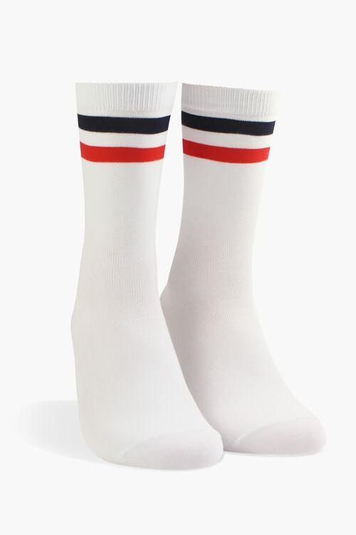 Men Varsity Striped Crew Socks, image 1