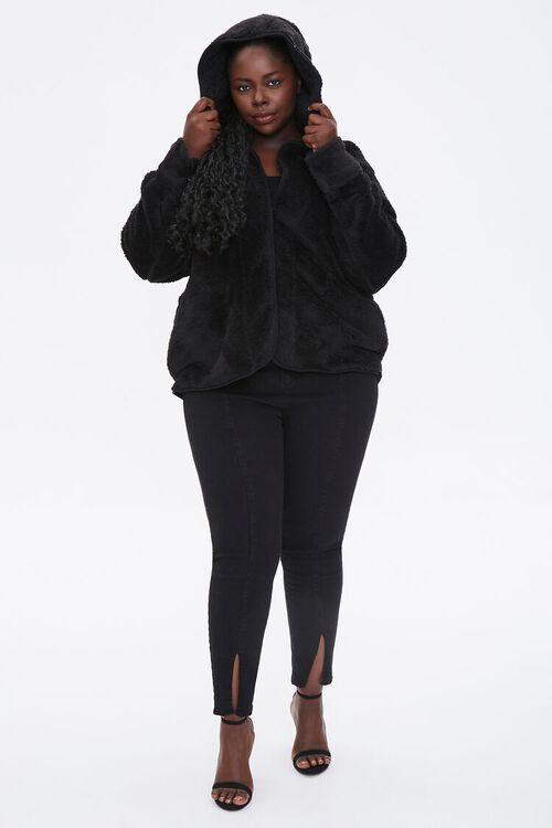 Plus Size Hooded Faux Fur Coat, image 4
