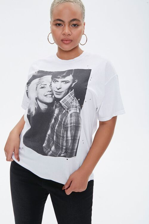 Plus Size Blondie & Bowie Graphic Tee, image 1
