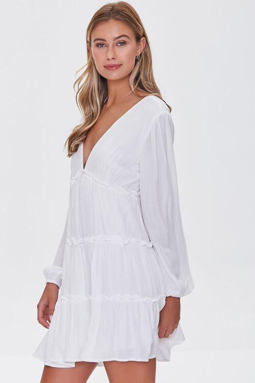 IVORY Ruffle-Trim Mini Dress, image 2