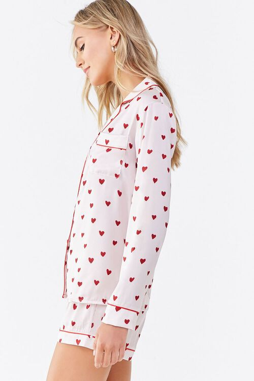 Heart Print Pajama Set, image 2