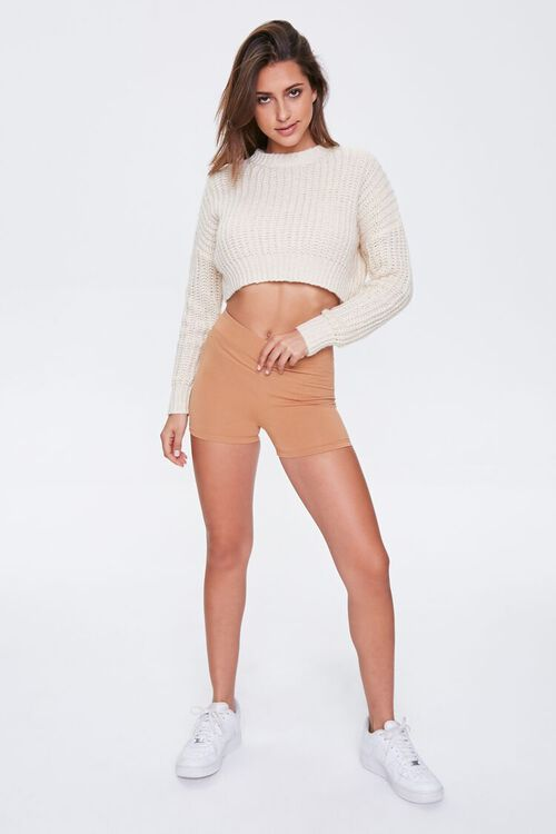 Basic Cotton-Blend Biker Shorts, image 5