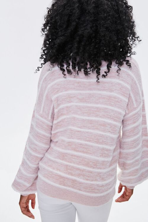 Striped Fuzzy Knit Sweater, image 3