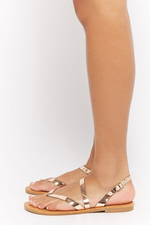 Metallic Flat Sandals, image 3