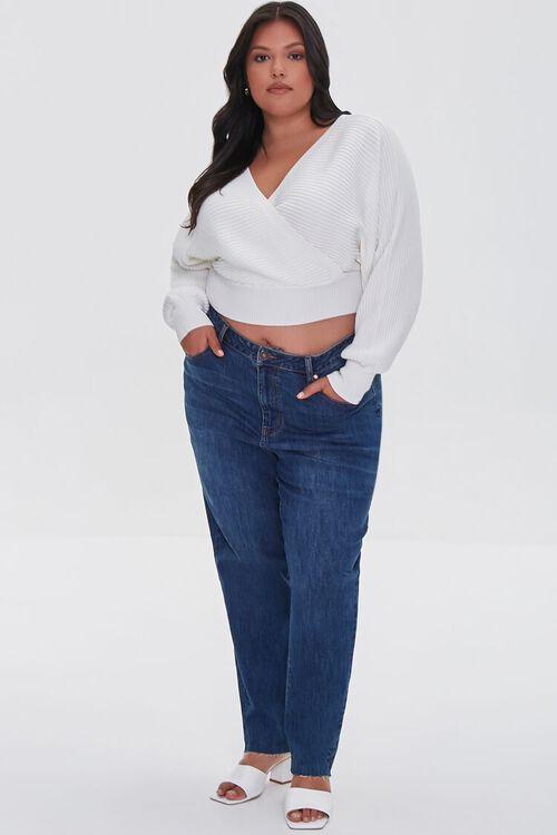 Plus Size Ribbed Surplice Sweater, image 4