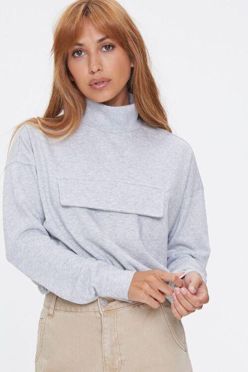 Heathered Turtleneck Pullover, image 1