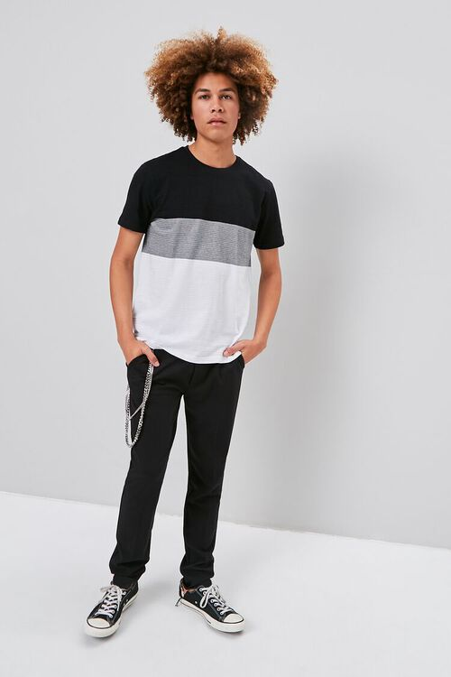 Colorblock Shadow-Striped Tee, image 4