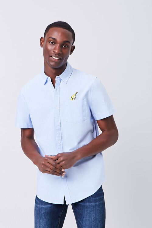 Fitted Embroidered Banana Pocket Shirt, image 2