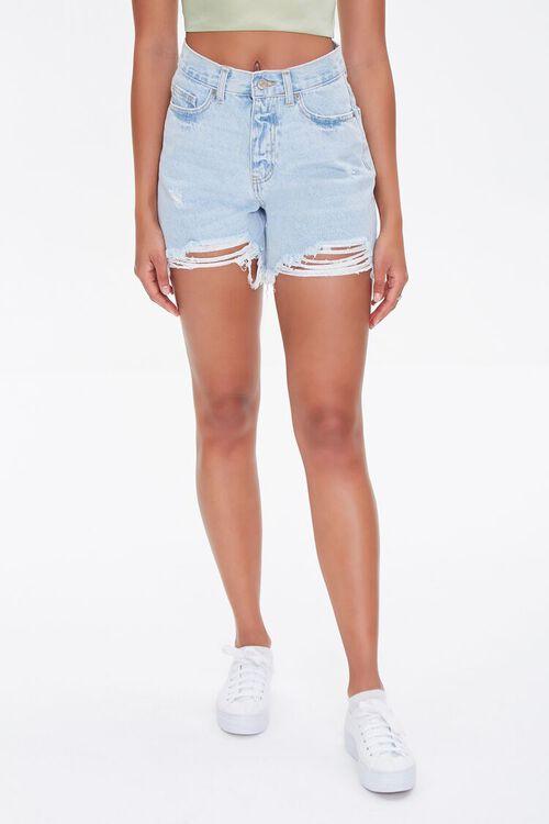 Distressed Denim Mom Shorts, image 2