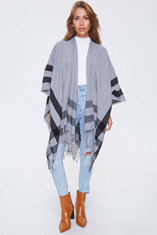 Fringe-Trim Striped Shawl, image 4