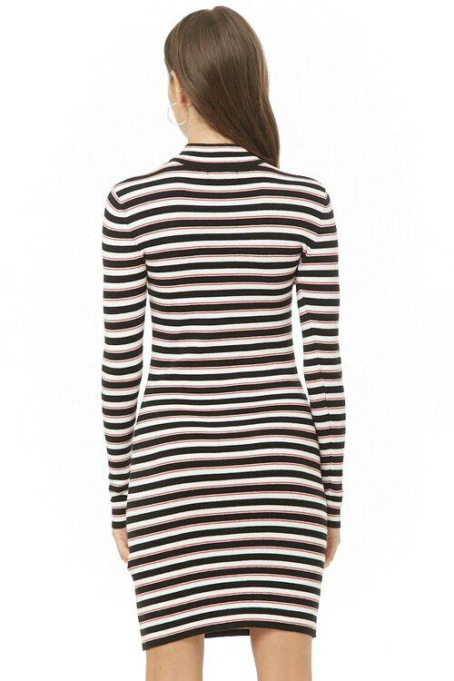 Striped Mock Neck Dress, image 3