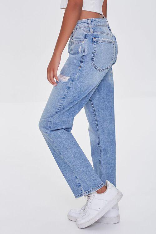 LIGHT DENIM Distressed Mom Jeans, image 3