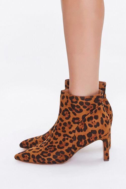 Leopard Print Block Heel Booties, image 2