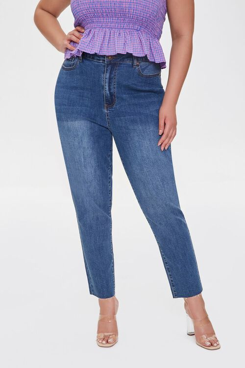Plus Size Signature High-Rise Mom Jeans, image 2