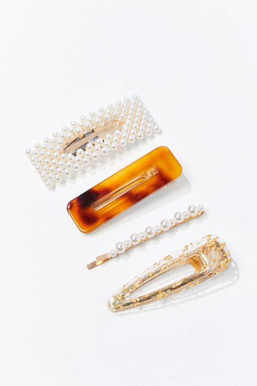 BROWN/MULTI Gator Clip Hair Set, image 1