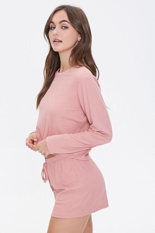 Ribbed Top & Shorts Pajama Set, image 2