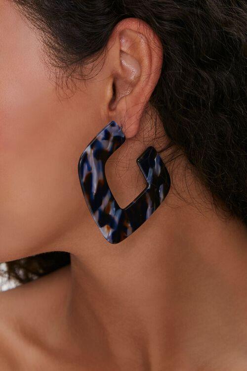 Geo Marbled Resin Hoop Earrings, image 1