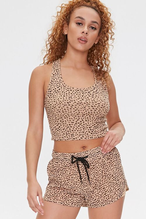 Active Cheetah Print Shorts, image 1
